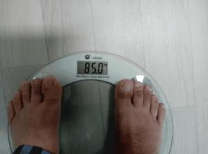85kg 몸무게 측정
